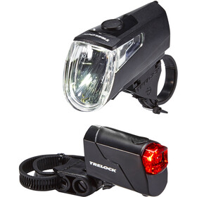 Trelock LS 360 I-GO ECO+LS 720 REEGO Bike Lights Sets black